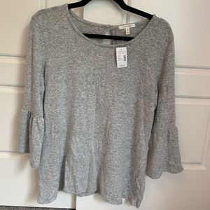Super soft/ comfy gray bell 3/4 sleeve NWT